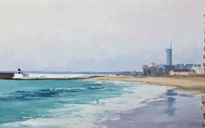 Acrílico - 'Praia da Barra' (55 X 180)