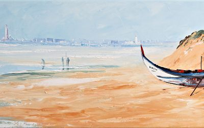Acrílico - 'Praia da Vagueira' (45 X 150)