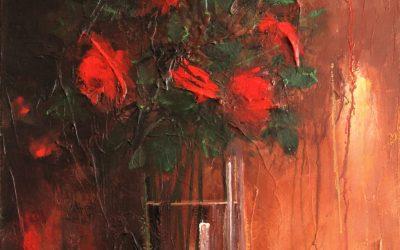Acrílico - Rosas 1
