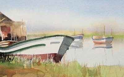 Aguarela - 'Ílhavo - Canal da Malhada' (26 X 102)