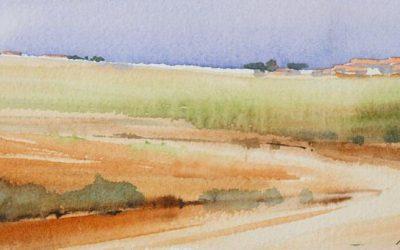 Aguarela - 'Alentejo' (20 X 52)