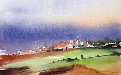 Aguarela - 'Alentejo - Paisagem 2' (25 X 37)