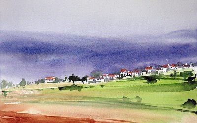 Aguarela - 'Alentejo - Paisagem' (25 X 37)
