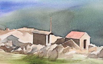 Aguarela - 'Arouca - Paiasgem Serrana' (26 X 102)