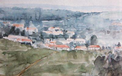 Aguarela - 'Casario' (27 X 35)