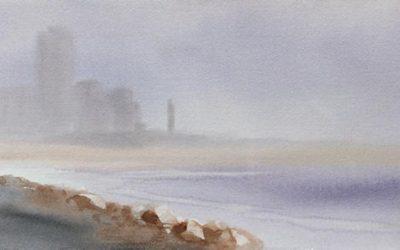 Aguarela - 'Figueira da Foz' (28 X 76)