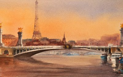 Aguarela - 'Paris' (37 X 73)