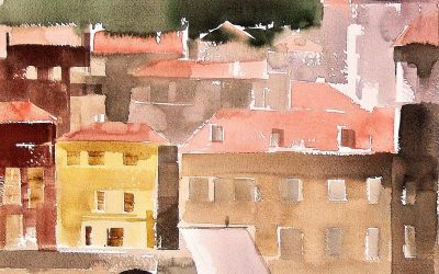 Aguarela - 'Porto - Visto de Gaia' (37 X 102)