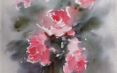 Aguarela - Rosas 3