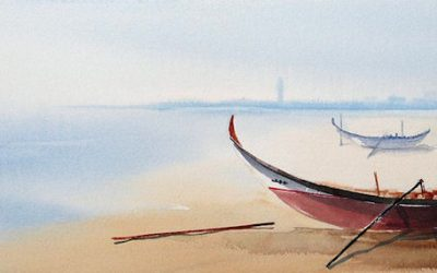 Aguarela - 'Vagueira - Praia' (25 X 75)