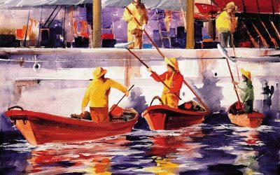 Técnica Mista - 'Pesca do Bacalhau' (60 X 80)